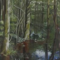Unindatie, pastel op doek, 80x100cm