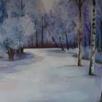 Witte wereld, olieverf op doek, 50x60cm