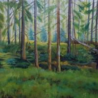 Swedish wood, olieverf op doek, 120x80cm