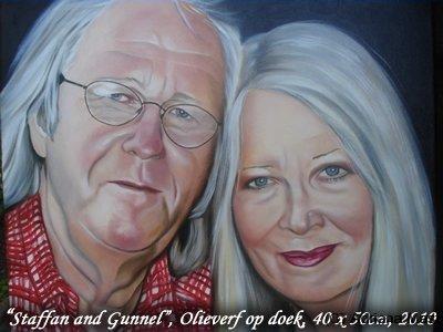 Staffan and Gunnel, olieverf op doek, 40x50cm