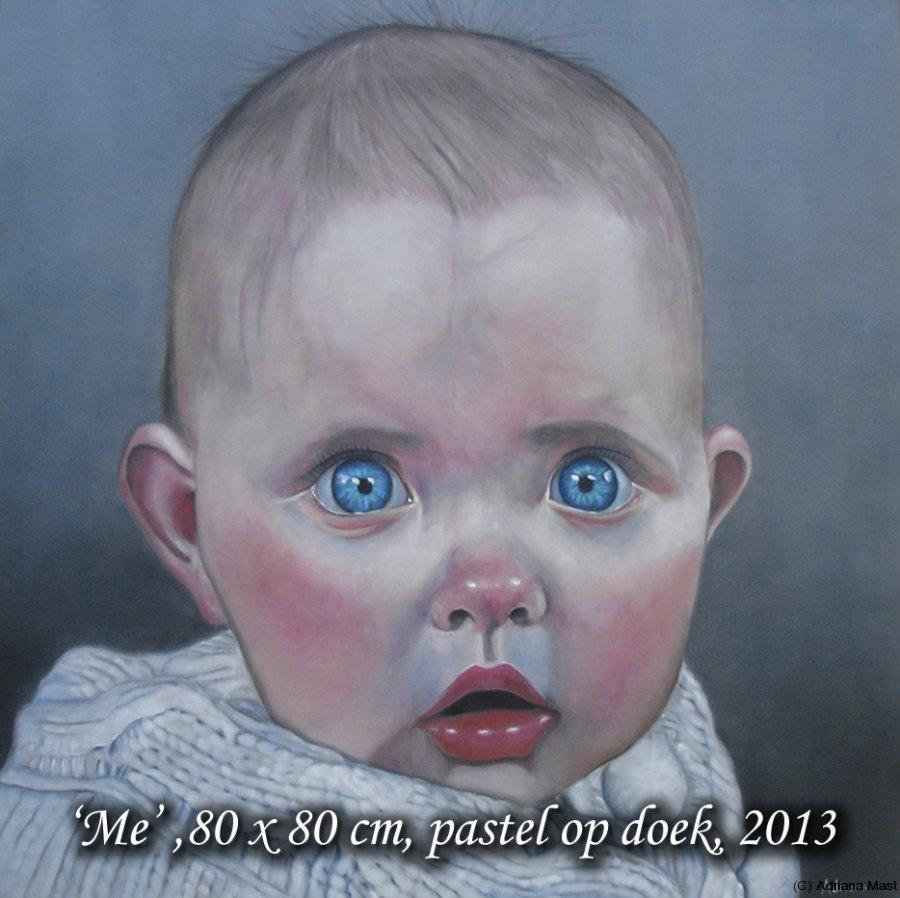 Hannah, pastel op doek, 80x80cm