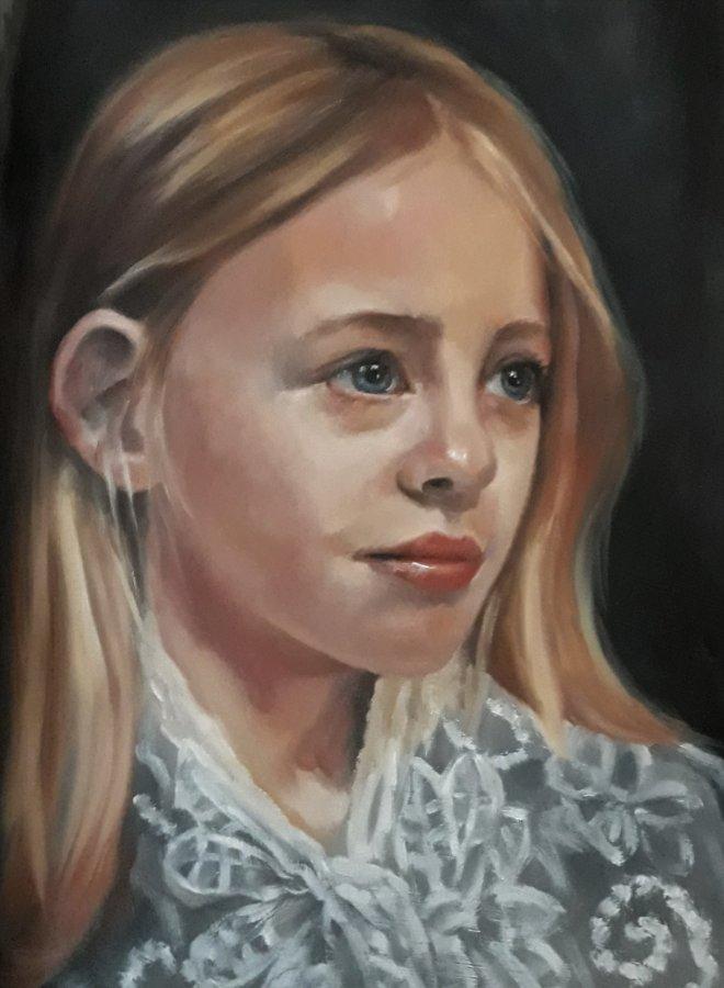 portret-meisje-olieverf-op-papier-18-x-24-cm