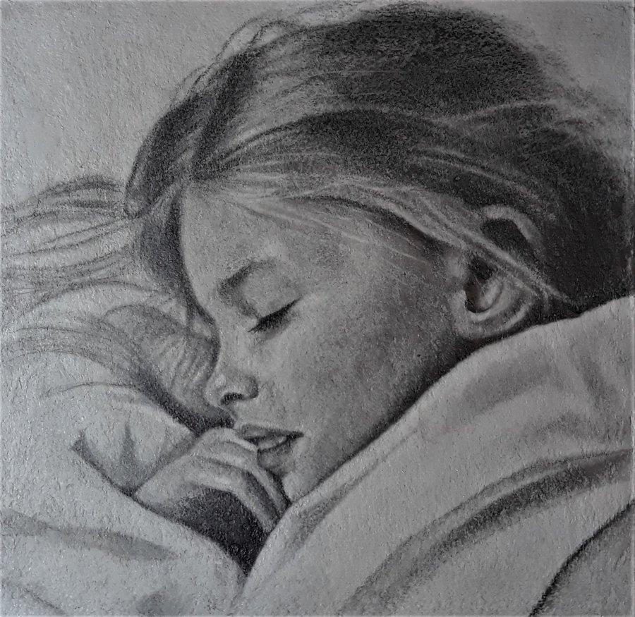 portret-sleeping-beauty-21-x-21-cm-blokpanneel-potlood-op-papier