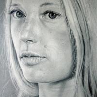 Elizabeth, potlood op papier, 26x19cm