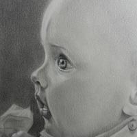 Hannah, potlood op papier, 20x30cm