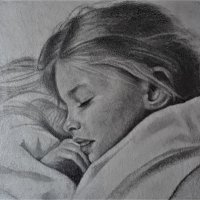 portret-sleeping-beauty-21-x-21-cm-blokpanneel-potlood-op-papier