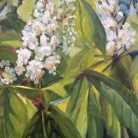 stillevens-en-bloemen-Kastanjebloesem-20-x-30-cm-olieverf-op-paneel